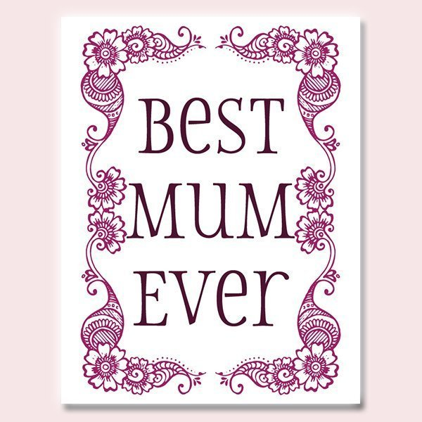 Indian Mother's Day card for your Mum