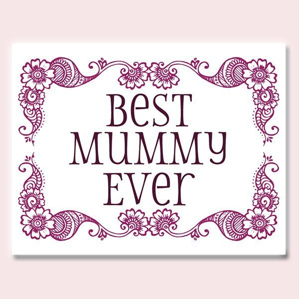 Indian Mother's Day card for your Mummy