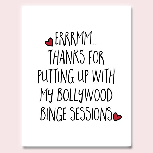 Bollywood Binger Card