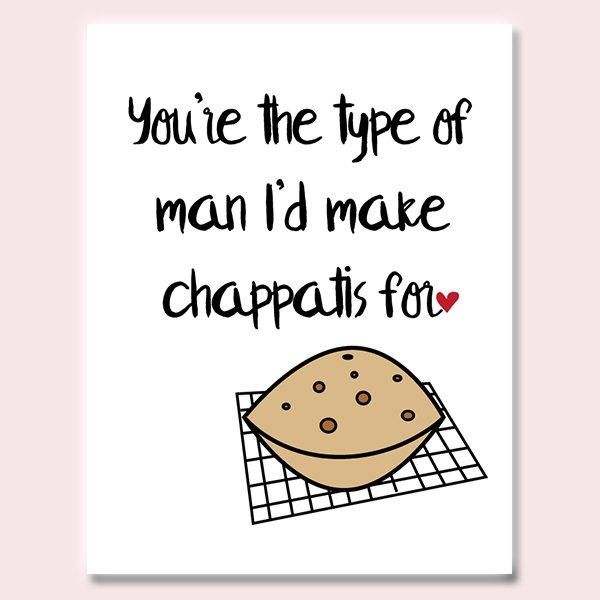 Chappatis Love Card (Man)