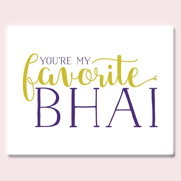 You're My Favorite Bhai Rakhi Card