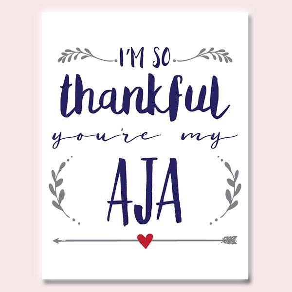 Thankful You're My Aja Father's Day Card
