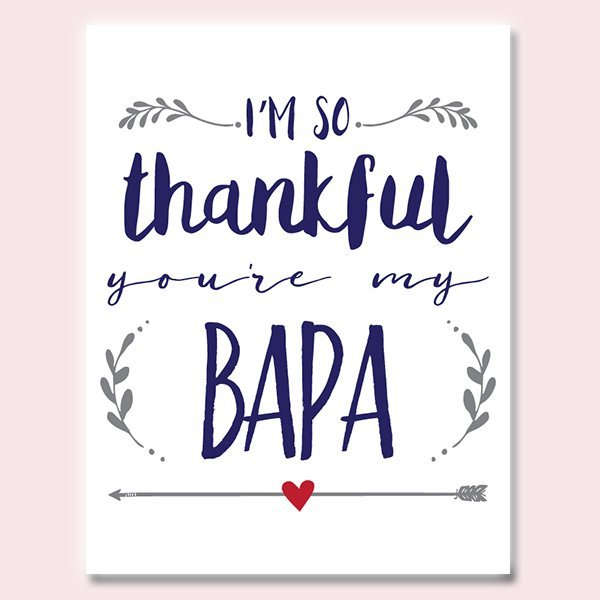 Thankful You're My Bapa Father's Day Card