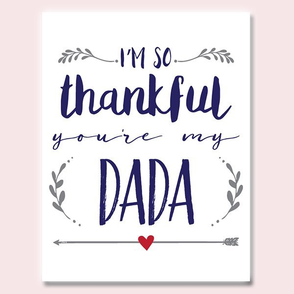 Thankful You're My Dada Father's Day Card
