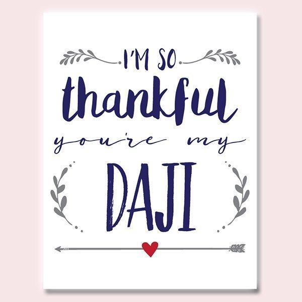 Thankful You're My Daji Father's Day Card