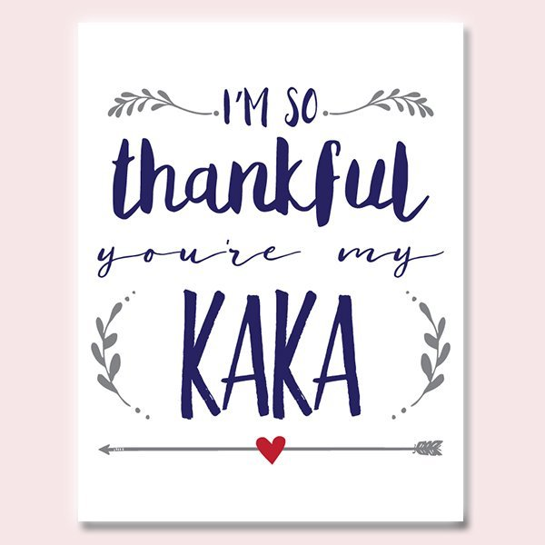 Thankful You're My Kaka Father's Day Card