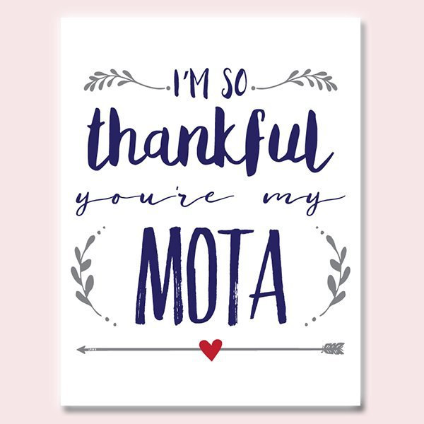 Thankful You're My Mota Father's Day Card