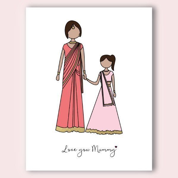 Indian Mother's Day card for your Mom