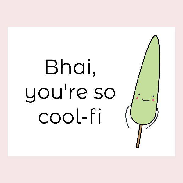 Cool-fi Bhai Rakhi Card