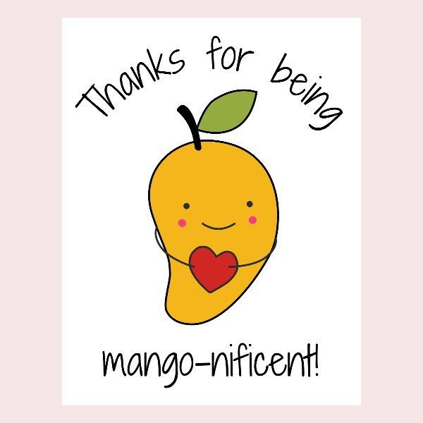 Mango food pun card