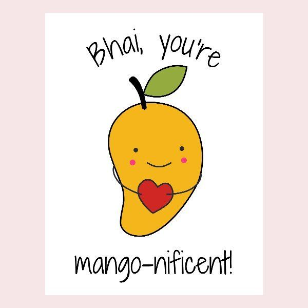 Mango-nificent Bhai Rakhi Card