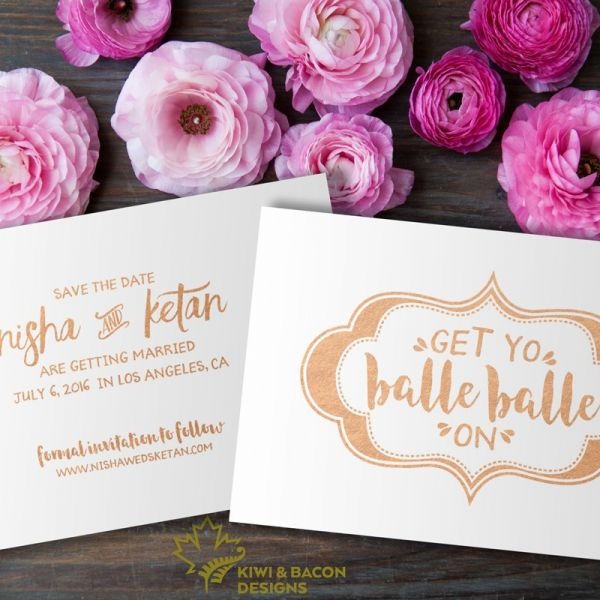 Indian Save the Date - Get Yo Balle Balle On - Editable DIY