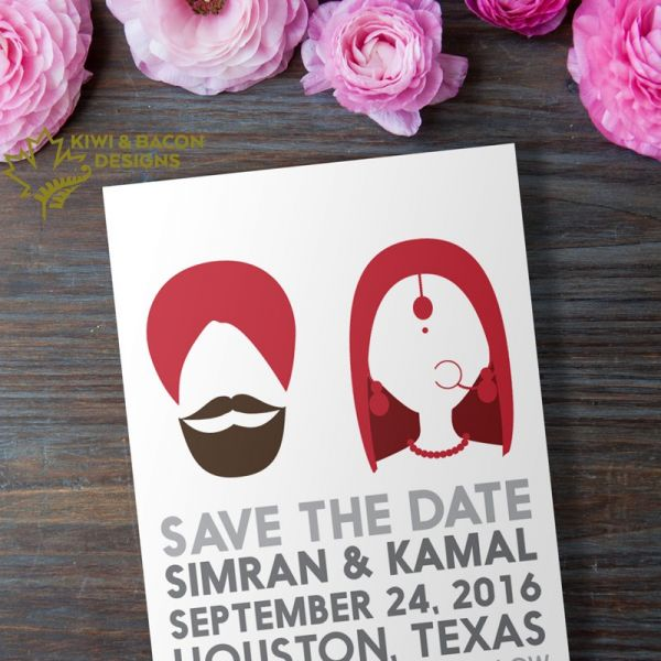 Sikh Save the Date - Silhouette